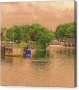 Molesey Lock And Weir Canvas Print