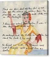 Molly Bloom As A Young Girl In Gibraltar Canvas Print