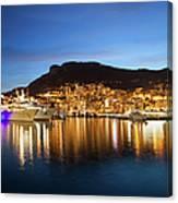 Monaco At Twilight Canvas Print