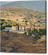 Monastery Agion Anargiron Above Argos Canvas Print