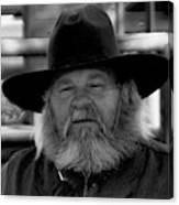 Mono Cowboy Canvas Print
