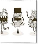 Monster Illustrationvector Canvas Print