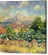 Mont Sainte-victoire, 1889 Canvas Print