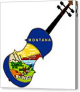 Montana State Fiddle Canvas Print