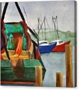 Montauk Dock W Canvas Print