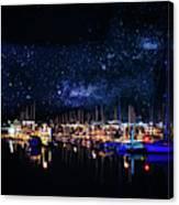Monterey Bay At Night Canvas Print
