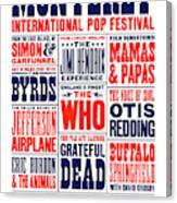 Monterey Pop Festival, poster Canvas Print