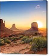 Monument Valley Twilight, Az, Usa Canvas Print