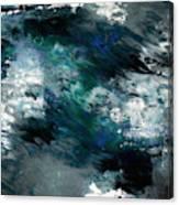Moonlight Ocean- Abstract Art By Linda Woods Canvas Print