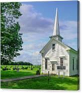 Moose Brook Chapel Canvas Print