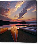 Morning At Lake Of The Two Rivers Canvas Print