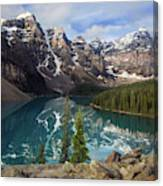 Morning At Moraine Canvas Print