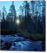 Morning Has Broken At Hepokongas Waterfall Canvas Print