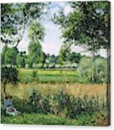 Morning Sunlight Effect, Eragny - Digital Remastered Edition Canvas Print