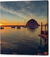 Morro Bay Harbor Sunset Canvas Print