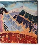 Mosaic Canigou Canvas Print