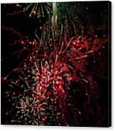 Mostly Red And White Fireworks Canvas Print