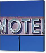 Motel Sign Canvas Print