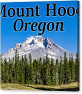 Mount Hood Oregon In Fall Canvas Print