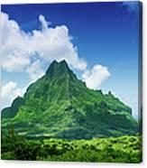 Mount Roto Nui Volcanic Mountain Moorea Canvas Print