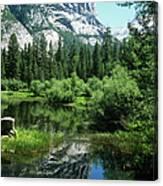 Mount Watkins And Mirror Lake Canvas Print