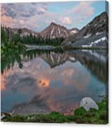 Mountain Lake Sunset Canvas Print