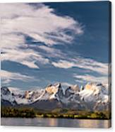 Mountain Range At Sunset Seen From Rio Canvas Print