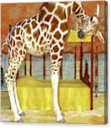 Ms Kitty And Her Giraffe  Canvas Print