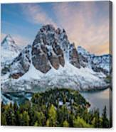 Mt Assinniboine Sunset Canvas Print