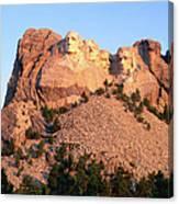 Mt Rushmore Memorial Carvings Canvas Print