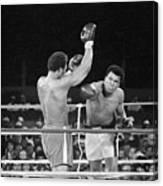 Muhammad Ali Punching George Foreman Canvas Print