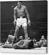 Muhammad Ali Taunting Sonny Liston Canvas Print