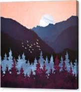 Mulberry Dusk Canvas Print