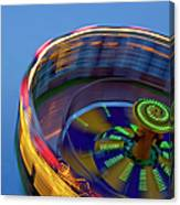 Multicolored Spinning Carnival Ride Canvas Print
