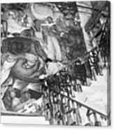 Mural By Artist Diego Rivera Canvas Print