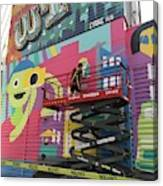 Mural Near The World Trade Center Canvas Print