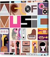 Musical Collage Of Various Images - Canvas Print