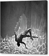Naked Man Underwater Canvas Print