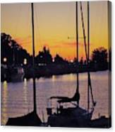 Narrow Sunset Canvas Print