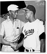 Nat King Cole And Minnie Minoso Canvas Print