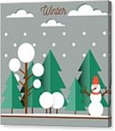 Nature, Winter Landscape With Christmas Canvas Print
