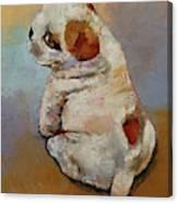 Naughty Puppy Canvas Print