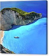 Navagio Beach, Zakynthos Island, Greece Canvas Print