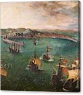 Naval Battle In The Gulf Of Naples Canvas Print