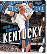 Ncaa Basketball Tournament - Final Four - Championship Sports Illustrated Cover Canvas Print