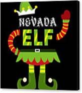 Nevada Elf Xmas Elf Santa Helper Christmas Canvas Print