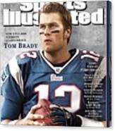 New England Patriots Qb Tom Brady, 2005 Sportsman Of The Sports Illustrated Cover Canvas Print