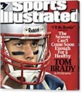 New England Patriots Qb Tom Brady, Super Bowl Xlii Sports Illustrated Cover Canvas Print