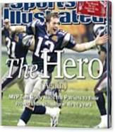 New England Patriots Qb Tom Brady, Super Bowl Xxxviii Sports Illustrated Cover Canvas Print