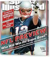 New England Patriots Quarterback Tom Brady, 2013 Nfl Sports Illustrated Cover Canvas Print